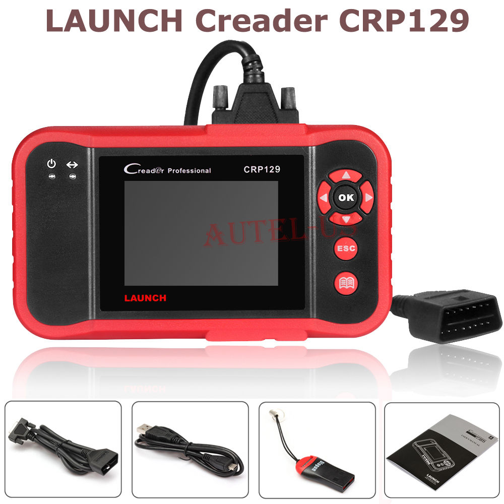 New Arrival Free shipping LAUNCH Creader CRP129 Code Reader Scan Tool OBD2 Engine ABS SRS EPB SAS as VIII(China (Mainland))