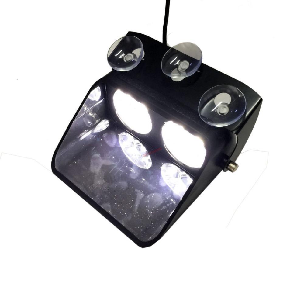 8 LED 8W White Car Beacon Flashing Light Bar Emergency Windshield Strobe Lights(China (Mainland))