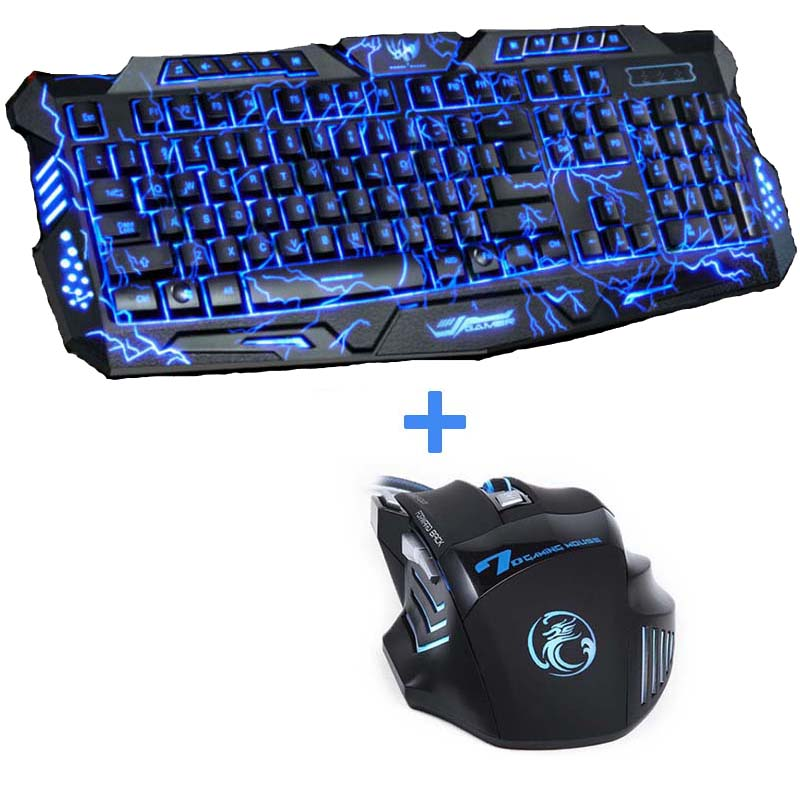 937cf2d3be5 Red/Purple/Blue Backlight LED Pro Gaming Keyboard M200 USB Wired ...