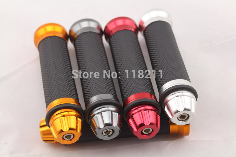 Universal Rubber Motocross Motorcycle Handlebar Grips Motorbike Handle Hand Bar - 8 Colors 298(China (Mainland))