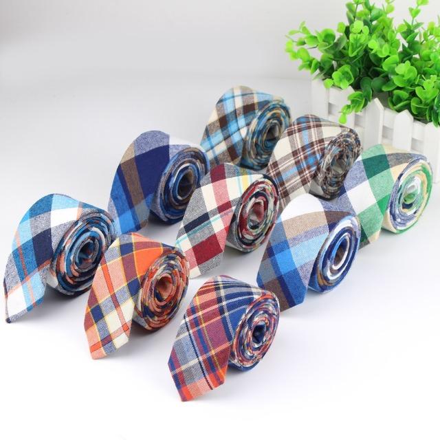Мягкая мужская мода алмаза проверить искусственный вата полосатый узкие галстуки ...
