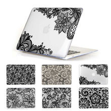 Lace Pattern Crystal Clear Cover Case for Apple MacBook Pro Retina 13 15 pro13 15 New Mac book Air 11 12 13.3 inch Hard Shell
