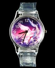 Angel LOVE Laides mujeres transparente de cuarzo reloj de pulsera