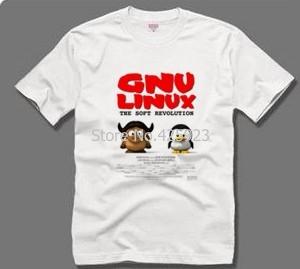 それシリーズ半袖gnu linux記号のjiaomaペンギンtux 100%カジュアルコットンtシャツ