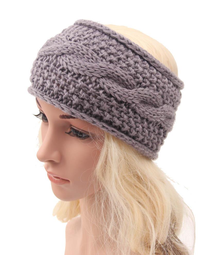 2015 winter cotton headband for women crochet knit turban hairband Headwrap girls head band ear warmer hair muffs band winter(China (Mainland))