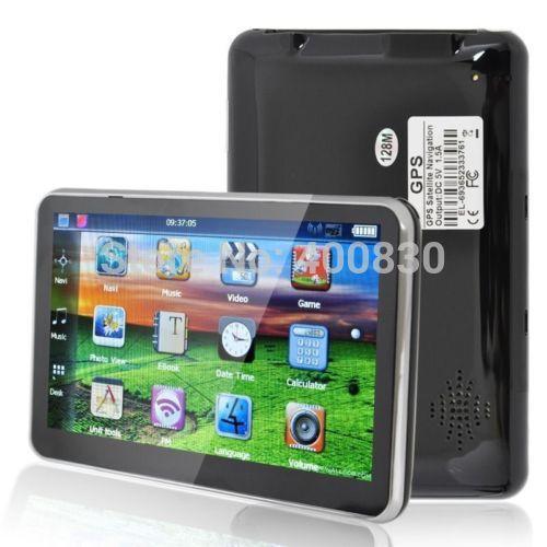 Universal Car GPS Navigation 5'' Inch Touch Screen FM Transmitter 8GB Memory bundlle Free Maps(China (Mainland))