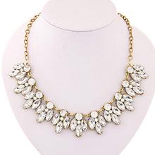 2015 hot sell Womens Bib Statement Luxury Rhinestone Necklace for a Classic but Elegant Design 5693(China (Mainland))