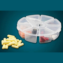 Camping Travel Hiking Plastic 8 Slots Clear Storage Box Organizer Holder Bead Rings Jewelry Display Container(China (Mainland))