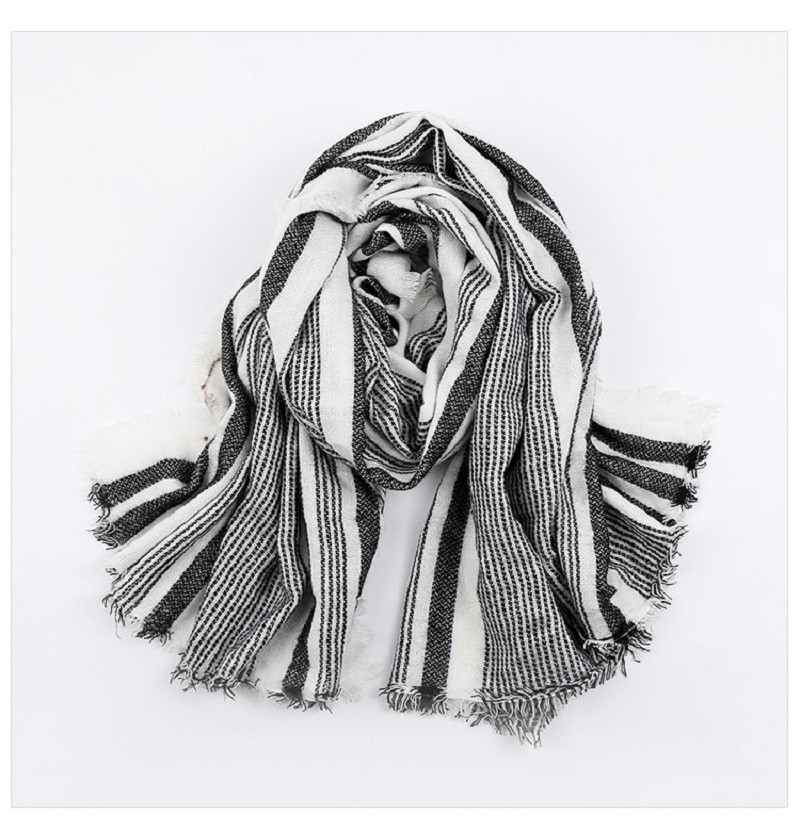 2016 New Arrival Za Brand Winter Scarf Women Oversizd Striped Unisex Acrylic Wrap Basic Shawls Cashmere Pashmina Blanket Bufanda
