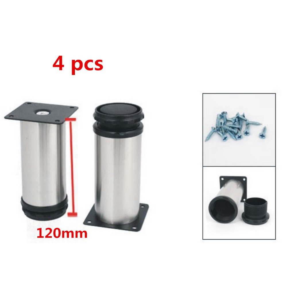4 pcs12cm High Stainless Steel Chair Cabinet Support Adjustable Leg Feet(China (Mainland))
