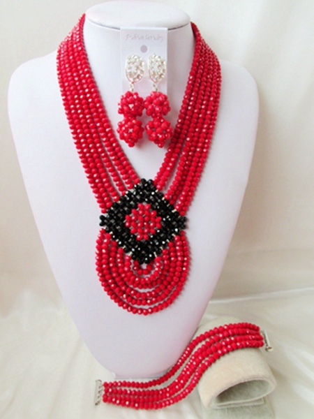 2015 new Fashion african beads Jewelry set crystal beads necklace set nigerian wedding african jewelry set free shipping WI-2540<br><br>Aliexpress