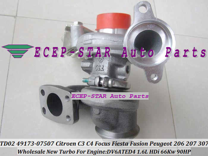 TD02 49173-07507 49173-07505 Turbo Turbocharger For Ford Fusion Fiesta VI Focus C-Max Citroen C3 C4 207 1.6L TDCI DV6ATED4 90HP(China (Mainland))