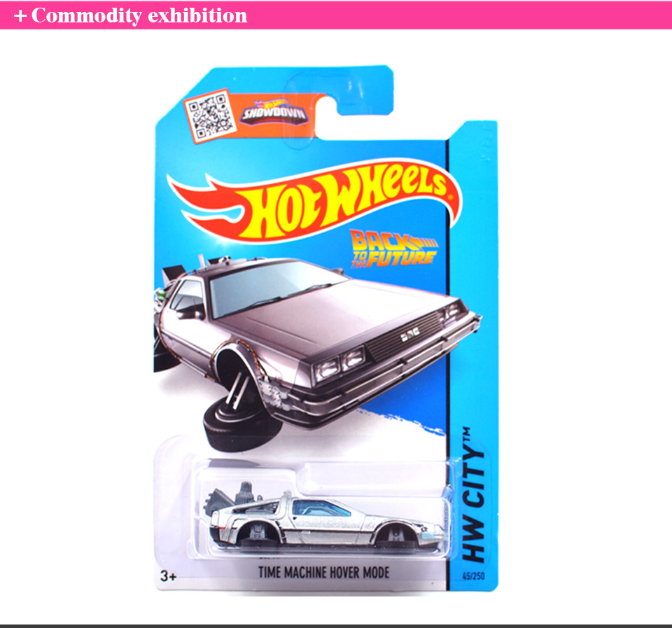 Free Shipping Hot Wheels Time Machine Collection Metal Cars Hot Wheels Back To The Future Style Children's Educational Toys 1:64(China (Mainland))