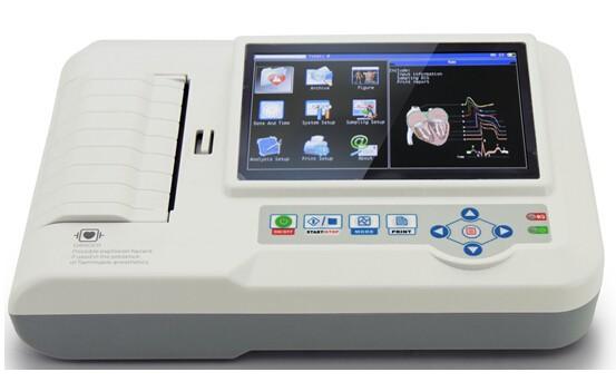6 channel ECG machine,. EKG machine, ECG machine price from factory built-in touch screen thermal printer(China (Mainland))