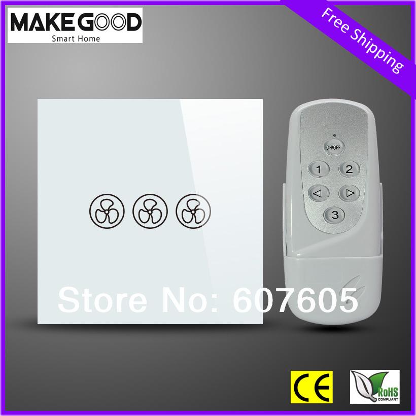 Дистанционный выключатель MakeGood , 3/+ LED MG-UKF01RC дистанционный выключатель dc12v 4
