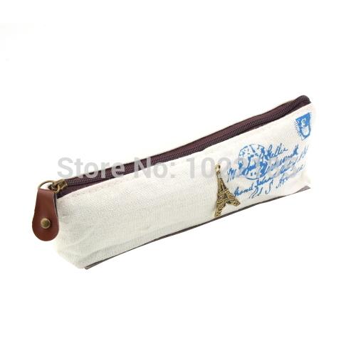 1pc New  Retro Canvas Paris Eiffel Tower Pencil Pen Case Cosmetic Bag Storage Wall Hot Sale!<br><br>Aliexpress