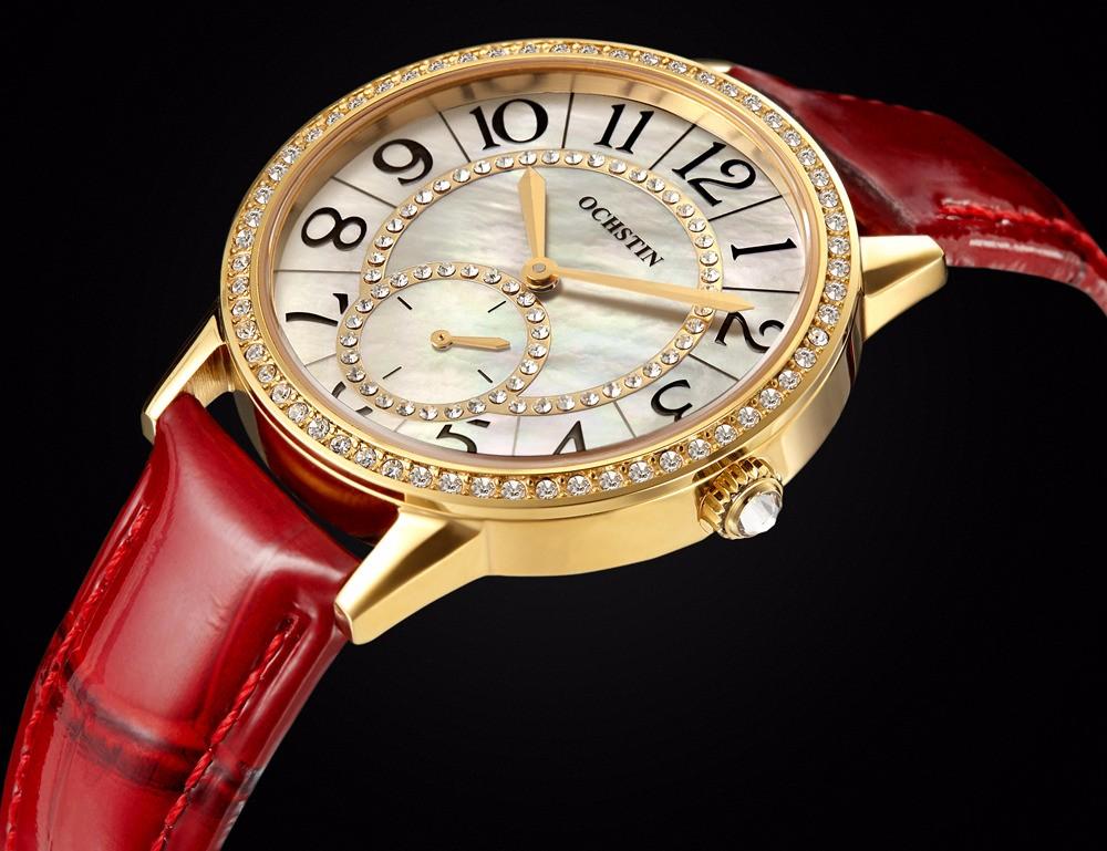 Дамы Моды Кожа Кварцевые Часы Женщины Люксовый Бренд Сапфировое стекло Смотреть Женщин Горный Хрусталь Часы Часы Женщина relojes mujer