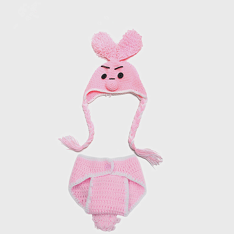 2016 Spring Autumn Baby Hat Newborns Photo Photography Props Infant Knitting Baby Bear Crochet Costume Adorable Clothes SY87(China (Mainland))