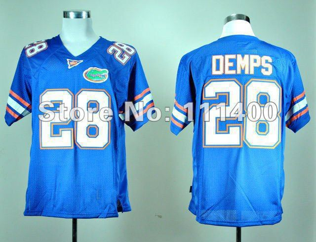 Best Chooice NCAA football jersey Florida Gators #28 Jeff Demps Blue jersey,embroidery Logocan mix order,-Free Shipping(China (Mainland))