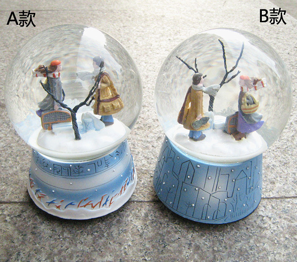 Wholesale Snow Ball Music Box swivel Musical Box Caixa De Musica Free Ship Hand Cranked Musical Box Turn Left Turn Right On Sale(China (Mainland))