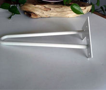 """Matte white hairpin legs, white color bench legs, table legs of 16"""" ,whole sale price, very good quality(China (Mainland))"""