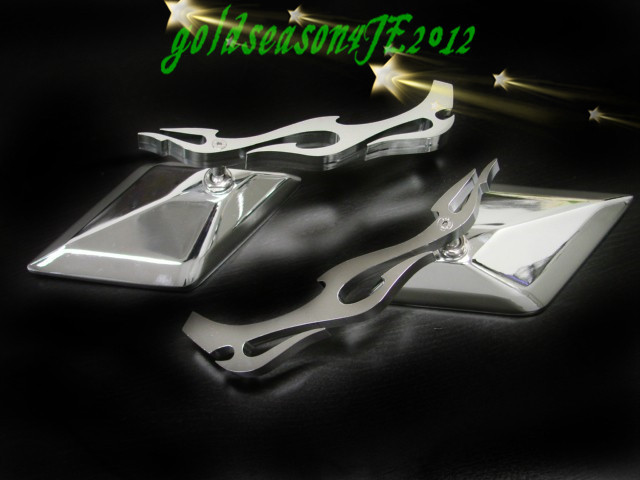 Motorcycle Standard Curiser Chopper Big Dog Rebel Shadow Spirit Magna 600 750 VTX 1300 1800 CHROME FLAME Side Rearview MIRRORS(China (Mainland))