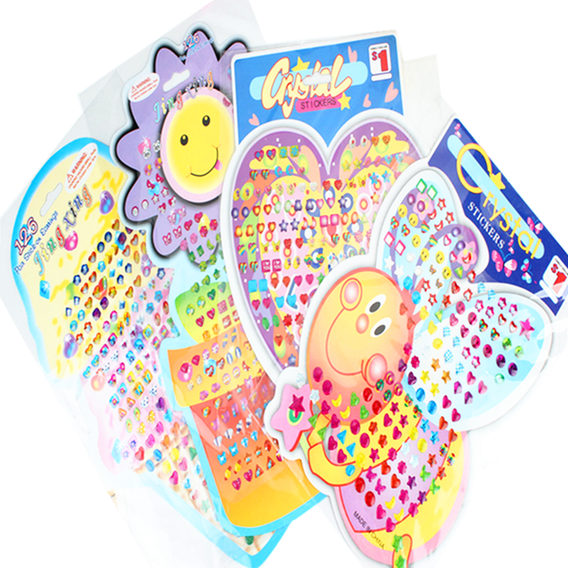 Children cartoon bubble sticker reward stickers 3D Baby Kids boys girls DIY Cute toys Dimensional crystal Epoxy stickers(China (Mainland))