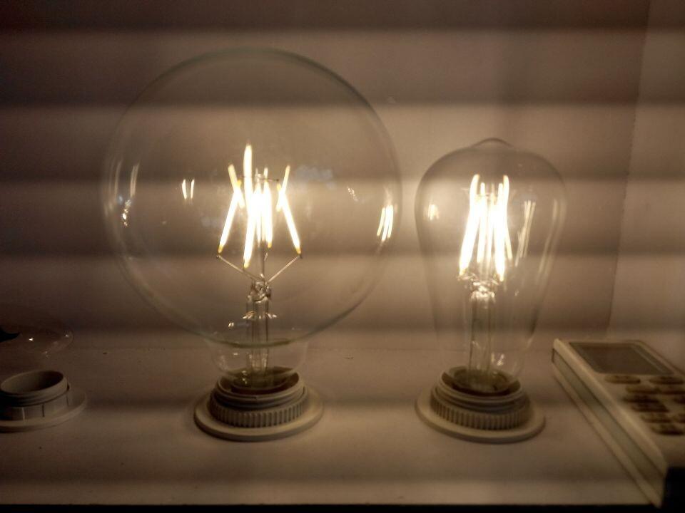 6PCS/LOT NEWEST Vintage Retro G125 LED 4W E27 Filament light bulb old fasioned warm white edison screw RH LOFT(China (Mainland))