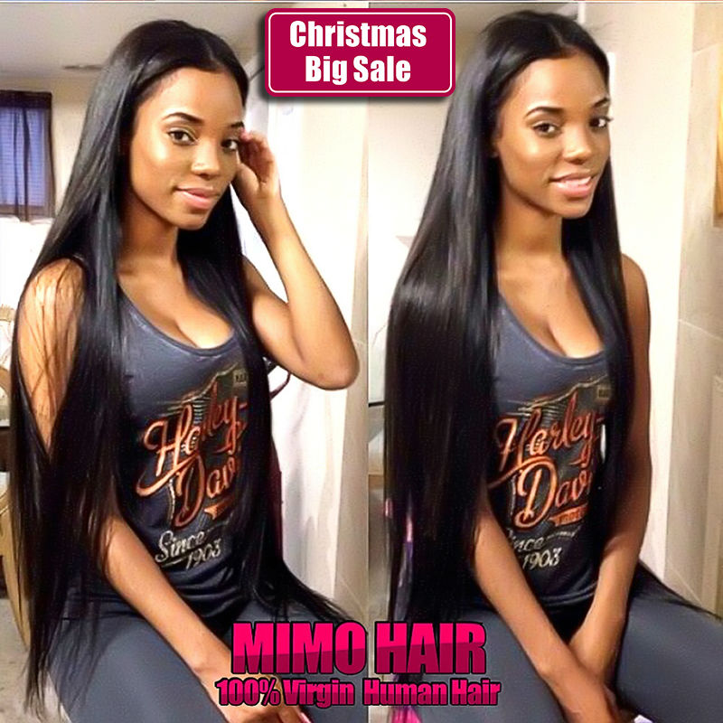 7A Mongolian Virgin Hair 4 Bundles Straight Human Hair Virgin Mongolian Straight Hair Unprocessed Mongolian Virgin Hair Straight