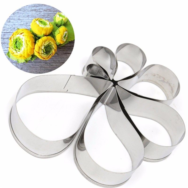 Spiral Flower Cake Mould Stainless Steel Cookie Cutter Biscuit Fondant Modeling Shape Decorating Baking Tool 7pcs(China (Mainland))