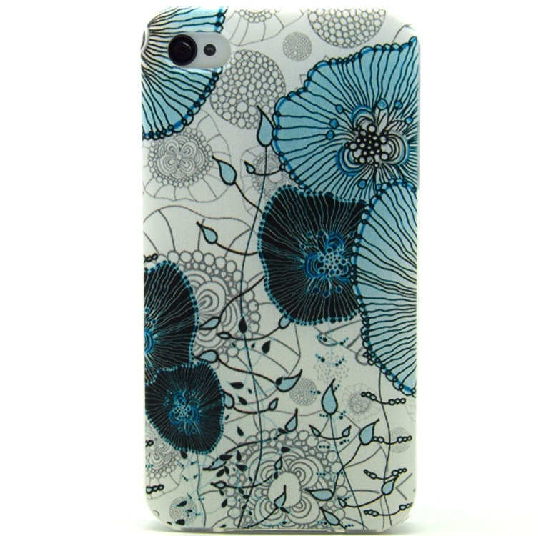 For Apple iphone 4 iPhone 4S Case For iPhone4 iPhone4S 4G Cover Ink Painting Lotus Design Cases Shell RB05269(China (Mainland))