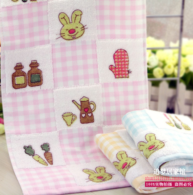 100% cotton gauze children towel 100% cotton yarn children towel cartoon small towel print child towel(China (Mainland))