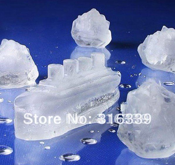 Fress shipping, wholesale-10pcs/lot ice trays gin titonic ice cube ocean liners icebergs(China (Mainland))
