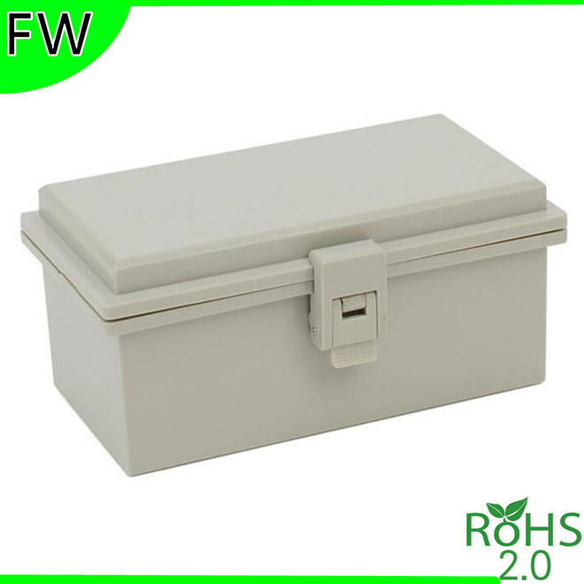 Hinge hasp waterproof case waterproof plastic waterproof box IP66 junction boxes enclosure 200*110*90mm(China (Mainland))