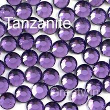 SS10 2.7-2.8mm,1440pcs/Bag Tanzanite DMC Hot Fix Flatback Rhinestone Iron On Glass Motif Crystals(China (Mainland))