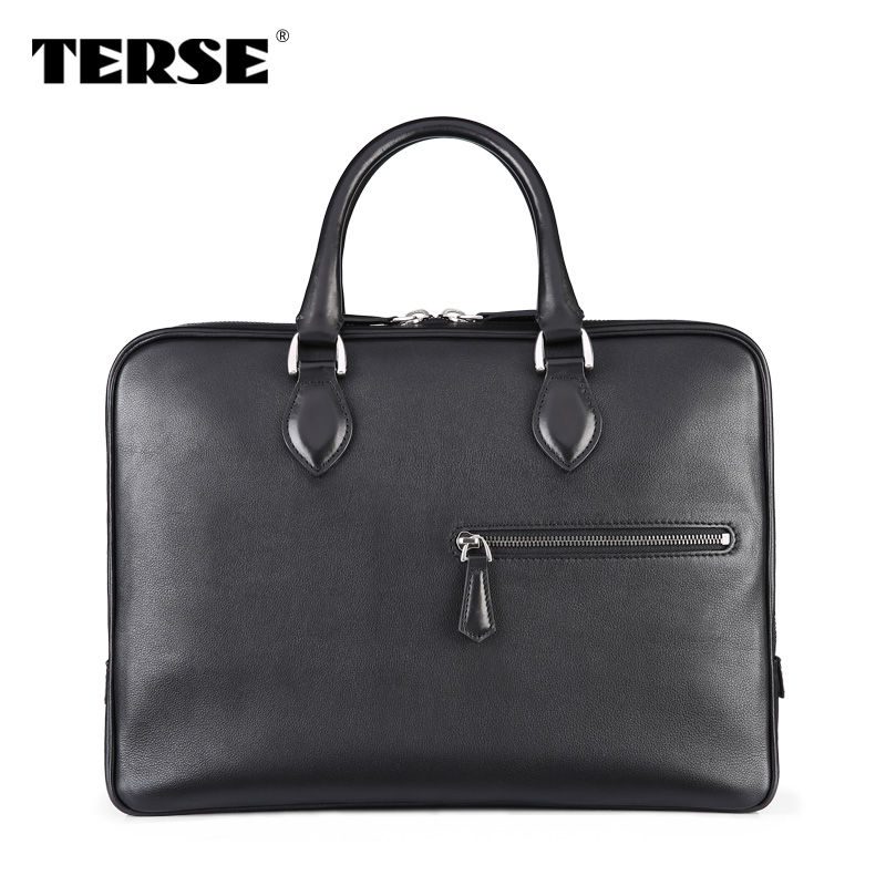 Top quality leather Briefcase for men leather laptop case Hand-Finished Italian leather handbag OEM custom berlu ti style sale(China (Mainland))