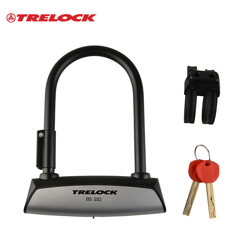 trelock professional german bicycle bike anti thief steel u lock mtb bmx mountain motorbike. Black Bedroom Furniture Sets. Home Design Ideas