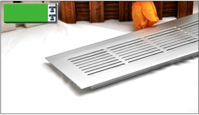 Wholesales Total 150MM Long Oblong Aluminium Furniture Accessories Cabinet Chest Air Vent Riser Furniture Air Hole Breather(China (Mainland))