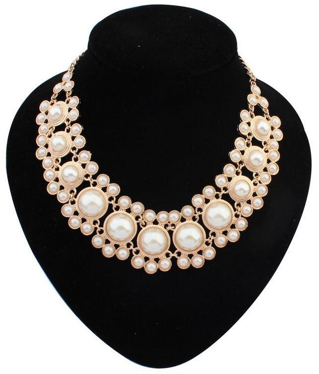 Colar Fine Jewelry Trendy Chunky Bib Metal Jewelry Wedding Bride Accessories Modern Cluster Hollywood Glamour Bubble Necklace(China (Mainland))