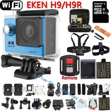 Action Camera Original EKEN H9R / H9 4K WiFi Action Sports camera Helmet Video Cam pro Underwater go waterproof Sport Camera