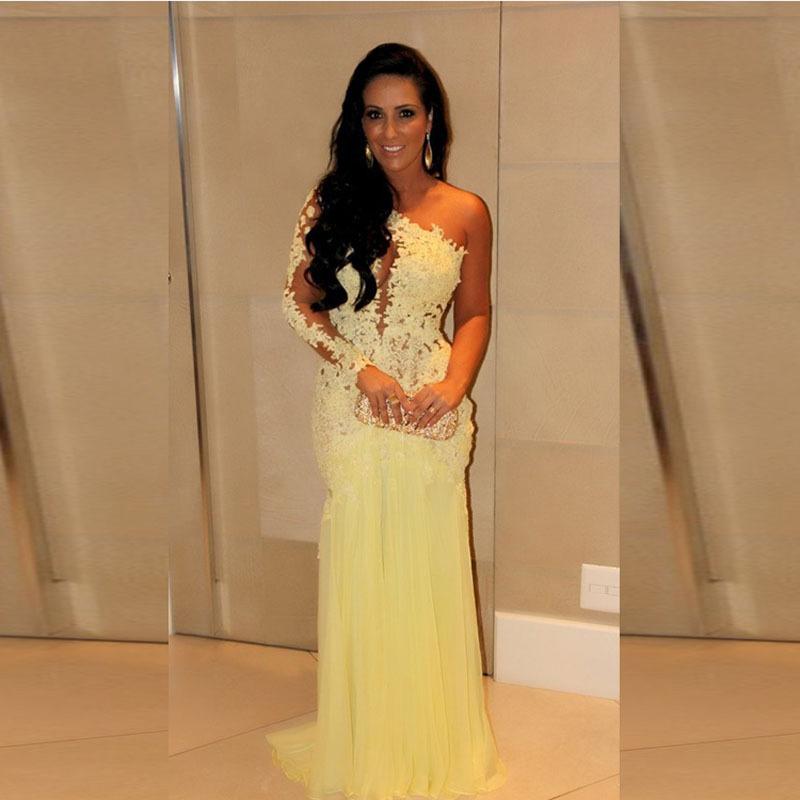 Popular Celebrity Designer Dresses Yellow-Buy Cheap Celebrity ...