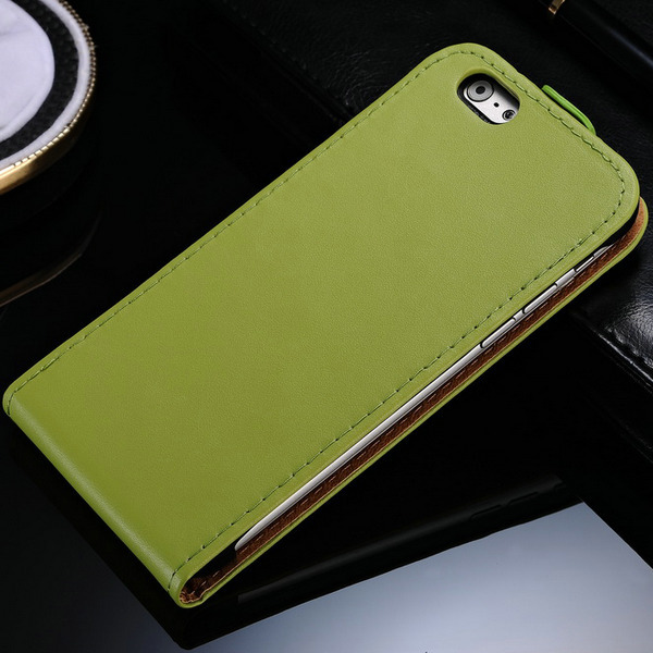 100 pcs/lot Real Genuine Leather Phone Bag Case For iPhone 6 Plus 5.5 Inch Flip Mobile Phone Cover for iPhone6 Wholesale DHL