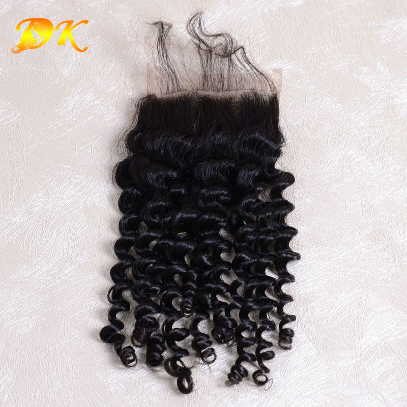 Brazilian human hair closure, Brazilian Curly Closure, unprocessed 5a brazilian virgin human hair Curly weave closures