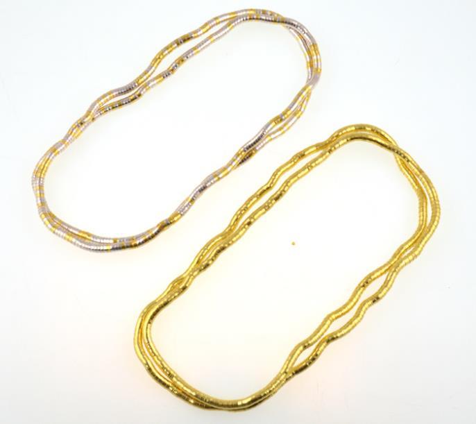 Wholesale bendy Fashion Flexible alloy Snake fold color Necklace(China (Mainland))