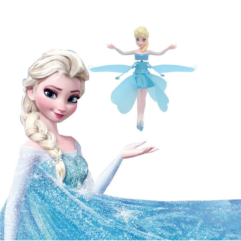 Cheap Flying Fairy Elsa and Anna Doll Princess Infrared Induction Control Fashion Flying Boneca With Light Music Electronic Toys(China (Mainland))