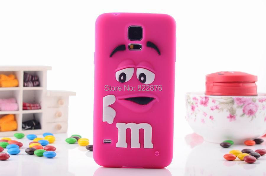 M&M Chocolate Candy Color Rainbow Bean Designer Silicone Case for Samsung Galaxy S5 i9600