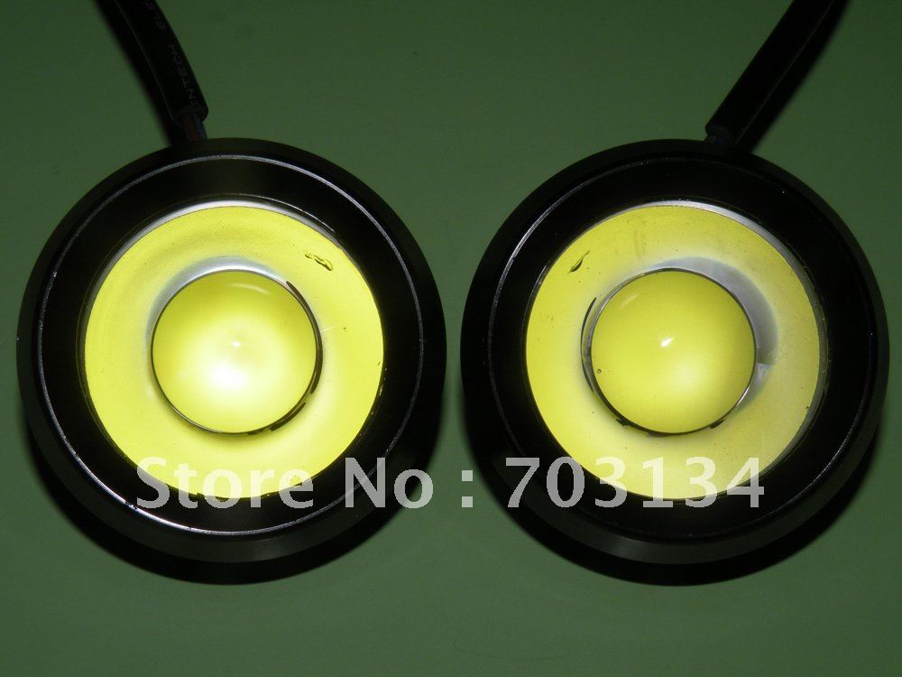 Super bright 18W Car headlamp Led head light Round Aluminum Fog Led Lamp Universal DRL Daytime running Reversing backup taillamp(China (Mainland))