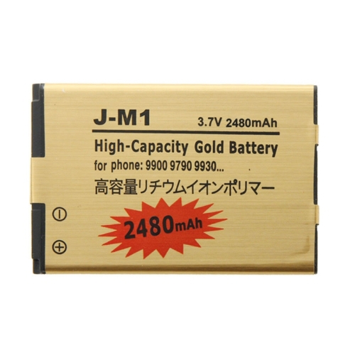 Mobile Phone Battery 2650mAh High Capacity Gold Li-ion Mobile Phone Battery for BlackBerry J-M1 /9900 / 9790 / 9930