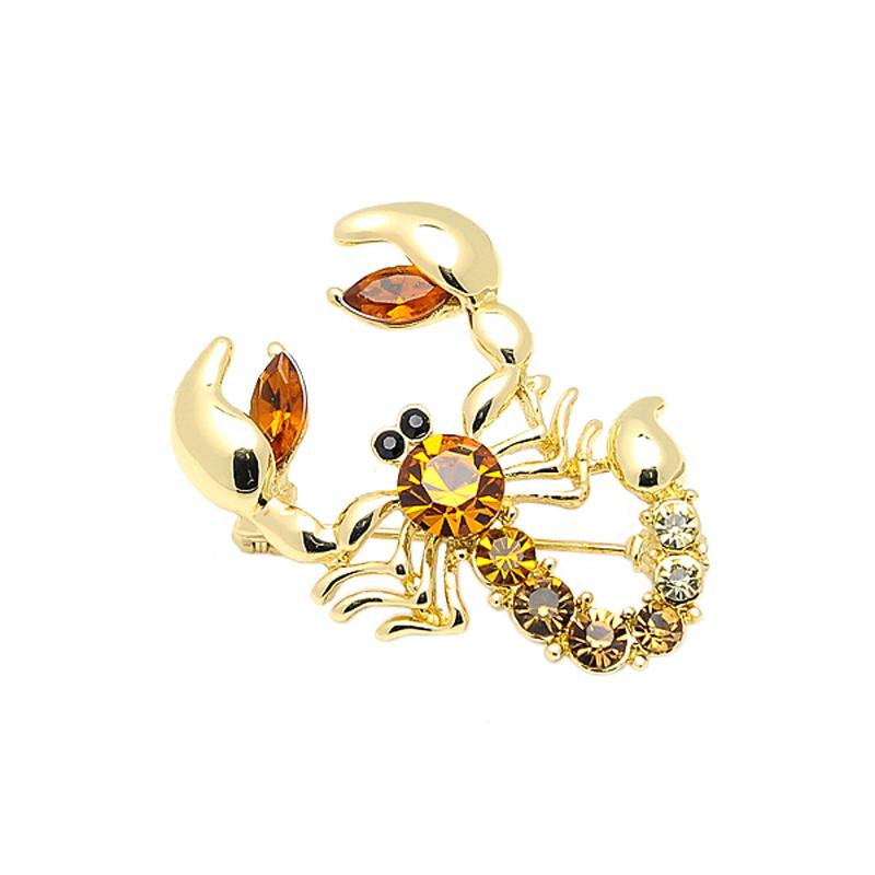 New Arrival Scorpion Brooch Classic Scarf Brooch Zinc Alloy Rhinestone Jewelry Brooch Pin Bridal Wedding Crystal Animal Brooch(China (Mainland))