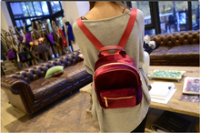 Womens suede Backpack Fashion Zipper Satchel Retro Girl Mini School Bag ht256(China (Mainland))